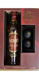 Grants Whisky Gift Box With Ice Molds 700ml
